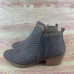 Lucky Brand Basel 3 Ankle Bootie Dark Stone 6.5